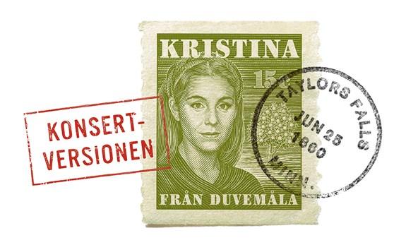 Frimärkesbild av Kristina frå...