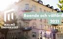 Bild på husfasad med Mau loggo och namn på konferensen Boende och välfärd 2021