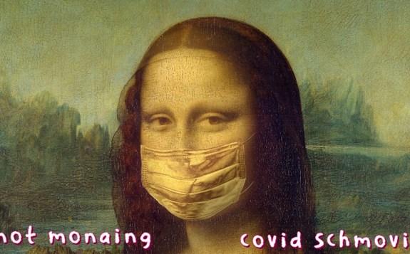 Meme image of Mona Lisa...
